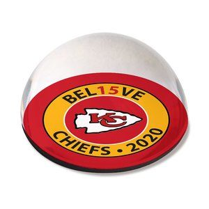 KC Chiefs Believe 2020 Crystal Dome Magnet